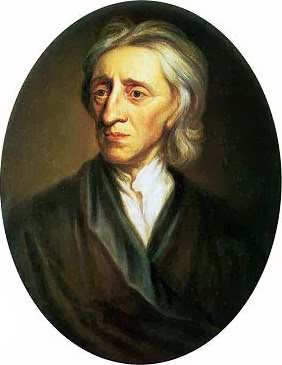 painting of John Locke looking stern