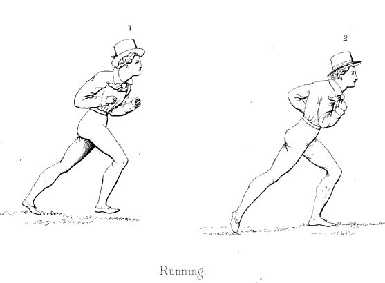 diagram of man performing running motions