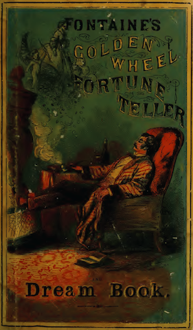 book cover with lounging man looking at spirit